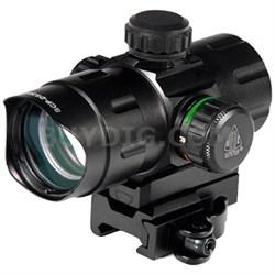"4.2"" ITA Red/Green CQB Dot Sight with QD Mount, Riser Adaptor - SCP-DS3840W"