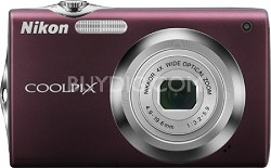 COOLPIX S3000 Digital Camera (Plum)