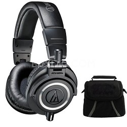 ATH-M50X Professional Studio Headphones (Black) Deluxe Bundle