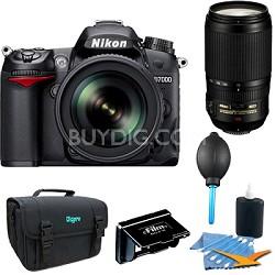 D7000 16.2 MP DX-format Digital SLR 18-105mm & 70-300mm Lens Kit