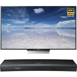75-Inch Class 4K HDR Ultra HD TV - XBR-75X850D w/ Samsung Disc Player