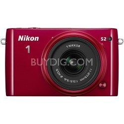 1 S2 Mirrorless 14.2MP Digital Camera with 11-27.5mm Lens - Red