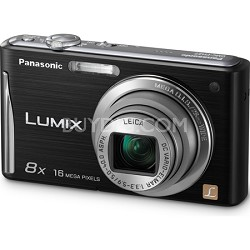 "Lumix DMC-FH27 16MP 8x Zoom Black Compact Digital Camera w/ 3.0"" Touchscreen"
