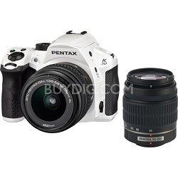 K-30 16.3 MP Digital SLR Camera w/ 18-55mm & 50-200mm AL Lenses Kit - White