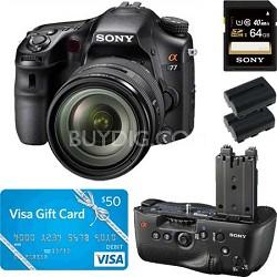 SLTA77VQ - a77 Digital SLR 24.3 MP with 16-50mm Zoom Lens Bundle Deal