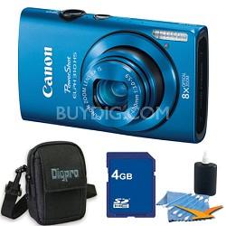 PowerShot ELPH 310 HS 12MP Blue Digital Camera 4GB Bundle