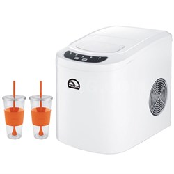 Compact Ice Maker White with Copco 24 Ounce Togo Cup Mug Bundle