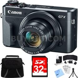 PowerShot G7 X Mark II 20.1MP 4.2x Opt. Zoom Digital Camera w/ Accessory Bundle