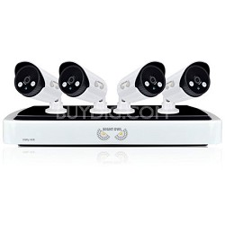 1080p 4 Channel NVR System with 4x1080p IP Cameras and 1 TB HDD