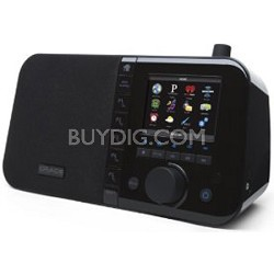 "Wi-Fi Music Player Desktop Internet Radio 3.5"" Color Display Black (GDI-IRC6000)"