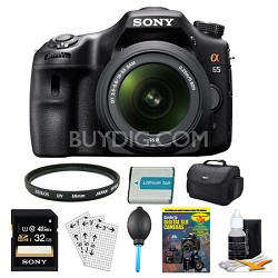 SLTA65VL DSLR 24.3MP 18-55mm Zoom SLR Black Camera 32GB Bundle