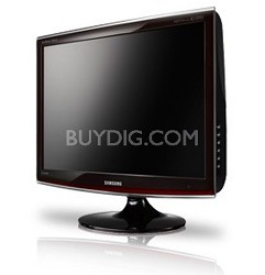 """T260HD Black/Red 26"""" Widescreen LCD Monitor"""