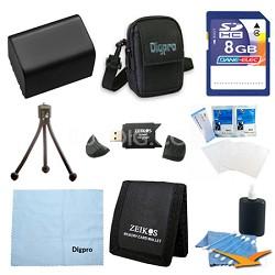 8GB Card / NP-FV50 Battery Kit for Sony HDR-CX190, CX200, CX260V, XR260V, CX210