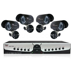 Apollo-45 4 channel H.264 VDR Kit with 500GB HD, 4 Night Vision Cameras
