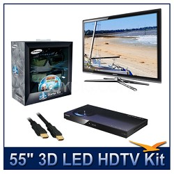 "UN55C7000 - 55"" 3D 1080p 240Hz LED HDTV Kit w/ 3D Glasses & Blu-Ray Player"