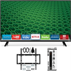 D40-D1 - D-Series 40-inch Full-Array LED Smart HDTV Slim Flat Wall Mount Bundle