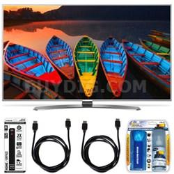 "65UH7700 65"" HDR 4K UHD Smart LED TV TruMotion 240Hz HDMI Cleaning Bundle"