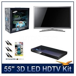 "UN55C8000 - 55"" 3D 1080p 240Hz LED HDTV w/ 3D Glasses & Blu-Ray Player"