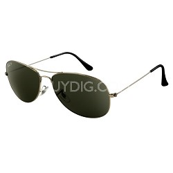 Cockpit Sunglasses - Gunmetal -Black Lens  59MM