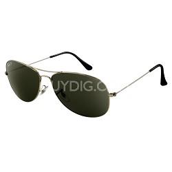 Cockpit Sunglasses - Gunmetal -Black Lens  59MM
