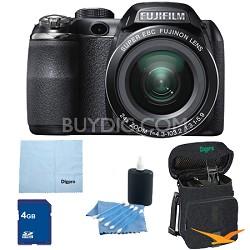 FinePix S4200 24x Optical Zoom 14 MP 3 inch LCD Digital Camera 4 GB Bundle