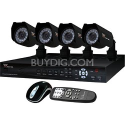 4-Channel 4 Camera Video Security Kit - Refurbished