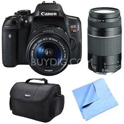 EOS Rebel T6i Digital SLR Camera w/ EF-S 18-55mm IS STM and 75-300mm Lens Bundle