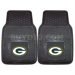 NFL Green Bay Packers Vinyl Heavy Duty Car Mat - Set of Two