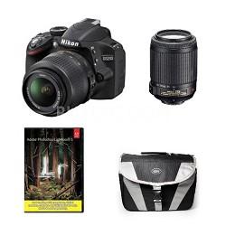 D3200 Digital SLR Camera w/ 18-55mm & 55-200 VR Refurb.Deal w/ Adobe Lightroom 5