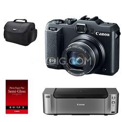 Powershot G15 12 MP High-Performance Digital Camera with Inkjet Printer