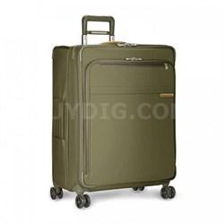 """Baseline Collection 28"""" Large Expandable Luggage Spinner (Olive) U128CXSP-7"""