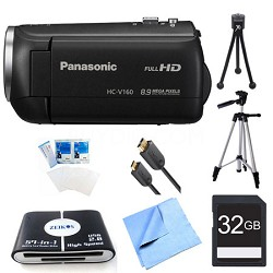 HC-V160K Long Zoom Camcorder 32GB Bundle