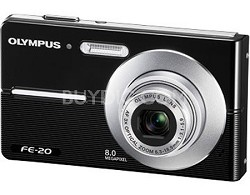FE-20 8MP Digital Camera (Black) - REFURBISHED