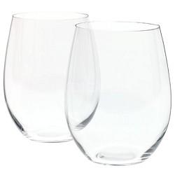 'O' Cabernet/Merlot/Bordeaux Stemless Wine Glasses - Set of 2