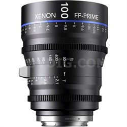 100MM Xenon Full Frame 4K Prime XN 2.1 / 100 Feet Lens for PL Mounts