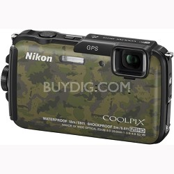 COOLPIX AW110 16MP Waterproof Shockproof Freezeproof Camouflage Digital Camera