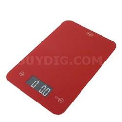 Thin Digital Kitchen Scale Red