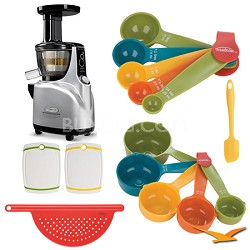 Silent Upright Masticating Juicer Deluxe Bundle