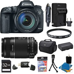 EOS 7D Mark II DSLR Camera with 18-135mm IS STM Lens and 55-250mm IS 32GB Bundle