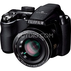"FinePix S4000 14 MP 3"" LCD Digital Camera w/ Fujinon 30x Super Wide Angle Zoom"