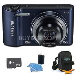 WB30F 16.2 MP 10x optical zoom Digital Camera Black 8GB Kit