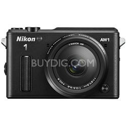 1 AW1 14.2MP Waterproof Shockproof Digital Camera w/ AW 11-27.5mm - Black