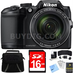 COOLPIX B500 16MP 40x Optical Zoom Digital Camera w/ Built-in Wi-Fi 16GB Bundle
