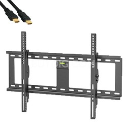 32- 72 Inch Ultra Slim Steel Tilting Wall Mount with 6ft High Speed HDMI Cable