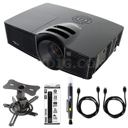 Full 3D 1080p DLP Home Theater Projector w/ Ceiling Mount Kit