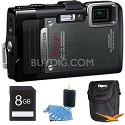 TG-830 iHS STYLUS Tough 16 MP 1080p HD Digital Camera Black 8GB Kit