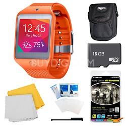 Gear 2 Neo Orange Watch, Case, and 16GB Card Bundle