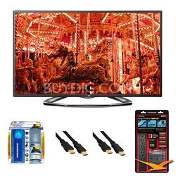 """47LA6200 47"""" 1080p 3D Smart TV 120Hz Dual Core 3D Direct LED Value Bundle"""