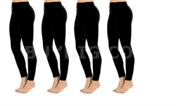 Seamless Full Length Leggings Midnight Black One Size