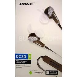 QuietComfort 20 Acoustic Noise Cancelling Headphones - OPEN BOX
